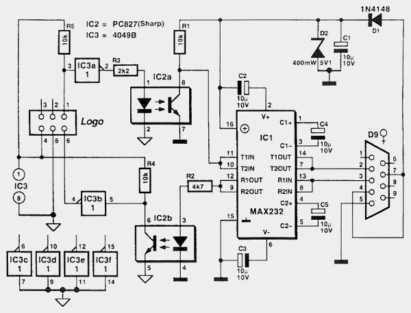 Схема кабеля LOGO!